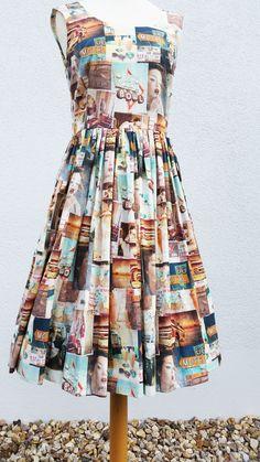 Kleid im 50er Jahre Look aus Baumwolle