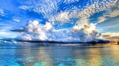 Nuvens Go Paisagens Natureza Oceanscape Reflexões Céus do mar Tempest Água