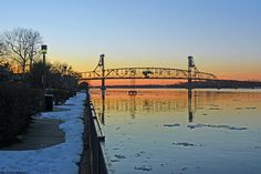 Burlington-Bristol Bridge from the Burlington Waterfront. Where my hubby is from