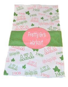 AKA Gym Workout Towel by LoveMeGreek on Etsy, $10.00