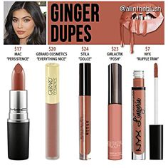 Kylie Jenner lip kit dupes for Ginger