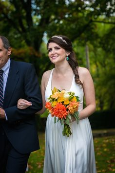 Lisa & Ed - Dress by Nicole Miller from Lovely Philly - Photo by Juliana Laury Photography