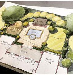 Lawn as a component of an asymmetrical formal garden design.