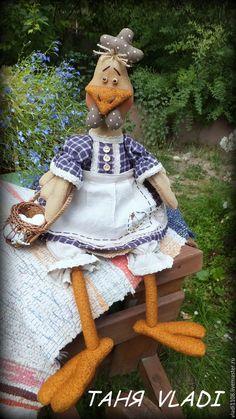 Купить САРА - курочка, курица, курочка пасхальная, кантри, текстильная игрушка, хлопок, батист
