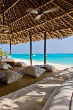 Mnemba Island, the largest island of the Zanzibar Archipelago.