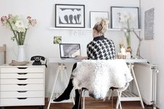 The perfect home office is both comfortable and conducive to productivity. Here's how to create a home office that's right for you. Home Office Space, Office Workspace, Home Office Design, Home Office Decor, Home Decor, Desk Space, Apartment Office, Office Shelf, Office Designs