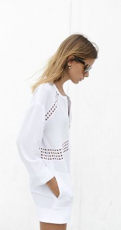 #summer #fashion / tout blanc