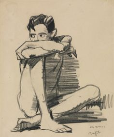 Gift of Leonard C. Guy Drawing, Life Drawing, Painting & Drawing, Figure Painting, Figure Drawing, Black Crayon, Cleveland Museum Of Art, Drawing Reference Poses, Gay Art