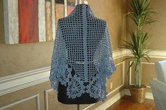 Ravelry: French Blue Shawl pattern by Cristina Mershon