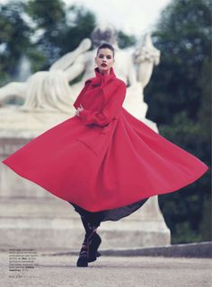 Christian Dior - (barbara palvin by david bellemere for us elle august 2013)