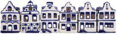 DELFTS BLAUW HUISJE 6 ASSORTI VOOR WAXINE | Holland Souvenir