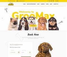 Groomax - ModelTheme Grooming Shop, Pet Grooming, Pet Services, Amazing Websites, Shopping Websites, Make More Money, Custom Logos, Wordpress Theme, Winnie The Pooh