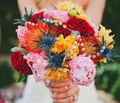 Bright and vibrant bouquet by Butterfly Petals