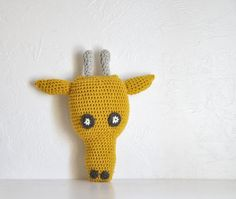 Giraffe Baby Nursery Decor Plushie Stuffed Animal Pillow - Jeffrey. $40.00, via Etsy.