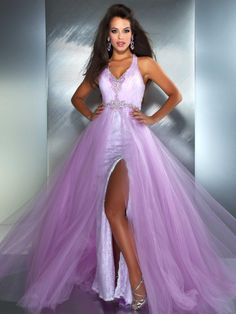 Purple dress long front 3