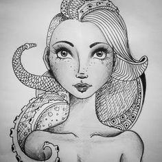 """Just one more... #monster #medusa #drawing #illustration #art  #creative #brazildesign #handmade #sketch #nanquin #draw #artwork #ink"""
