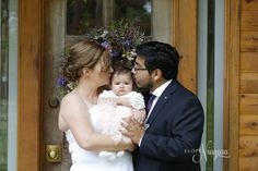 You and me and baby makes 3! A romantic elopement wedding at The Little Log Wedding Chapel in Niagara