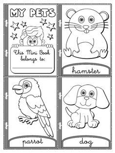 My Pets - Colouring Mini Book