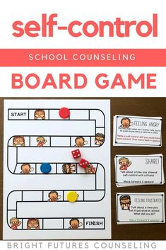 This self-control board game is a fun self-control activity for kids! Students discuss feeling frustrated, feeling angry, and self-control coping skills. This is great for an elementary school counseling small group or individual session. Social Skills Activities, Counseling Activities, Teen Activities, Elementary School Counselor, School Counseling, Self Control, Teaching Character Traits, Bullying Prevention, Feeling Frustrated