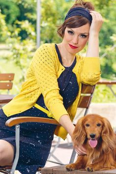 This 60s Lovelyn Cardigan makes us só happy!Every detail of Lovelyn is simply A-MA-ZING. Truly an eyecatcher due to her bright yellow colour, openworked pattern and row of flower shaped buttons. Made from lovely soft, fine knitted, stretchy cotton for a lovely fit. Bloom, grow and blossom!    Round neckline Long sleeves Row of buttons Ribboard Long enough to pair with regular trousers PETA approved The featured accessories are not available in our shop
