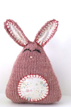 Handmade Knit Easter Bunny