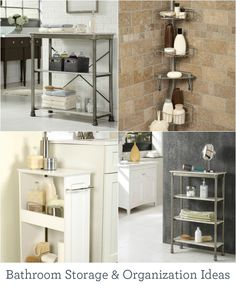 From towers to totes and carts to cabinets, these bathroom storage and organization ideas will procure the perfect powder room.