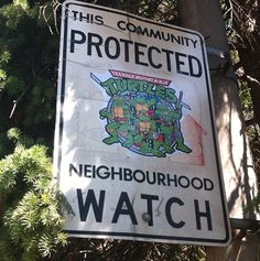 Altered Neighborhood Watch Signs Featuring Pop Culture Heroes