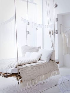 dreamy hanging bed-  one day.