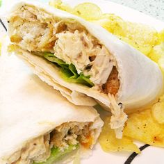 Crockpot lunch - Chicken Ceasar sandwich in slow cooker. Great Lunch Idea or for a quick easy supper you can simply add to your crockpot have it ready for dinner! Chicken Ceasar, Chicken Caesar Wrap, Chicken Wraps, Chicken Salad, Wrap Recipes, Lunch Recipes, Slow Cooker Recipes, Cooking Recipes, Crockpot Ideas