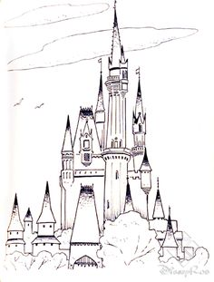 princess cinderella color pages printable The Princes Castle
