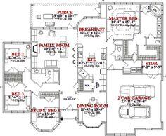 Main Floor     Plan 63-186     2540 sq ft     4 beds     2.50 baths     70 ft wide     58 ft deep