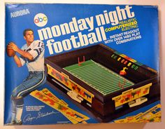 Image Detail for - Monday night football game 1972 Aurora, Roger Staubach, ABC football ...play results would light up on the field...