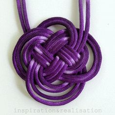 inspiration and realisation: DIY fashion blog: DIY Anthropologie dip dyed knot necklace