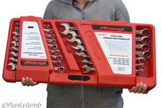 16 Pc Extra Long 10mm-32mm Combination Spanner Wrench Garage Workshop Tool Set | eBay