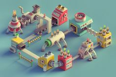 Mini Machines on Behance #color #toy