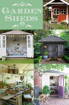 Garden Sheds: Who doesn't love a classic Garden Shed? This collection of unique and inspiring garden sheds will give you creative ideas for building your own unique garden shed. - The Seasoned Homemaker
