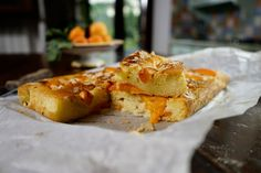 Silvia Colloca - Apricot and olive oil cake (torta all'olio e albicocche). Unlike traditional cakes that dry out quickly, this cake gets more moist and tastier after a couple of days! Easy Cake Recipes, Sweet Recipes, Dessert Recipes, Healthy Desserts, Apricot Cake, Corn Cakes, Fruit Cakes, Sbs Food, Olive Oil Cake