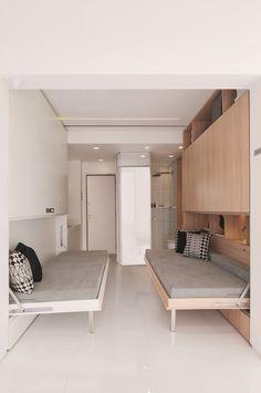 Home Office Decor Home Office Design, Home Office Decor, House Design, Home Decor, Office Table, Office Ideas, Tiny Apartments, Tiny Spaces, Sofa Cama Individual