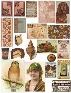 tons of collage sheets with vintage images, signs, letters, etc! free downloads/prints.