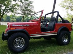 """1986 JEEP CJ 7 RENEGADE I FOUND IT. MY FIRST LOVE but Daddy wouldn't let me get one...""""Too dangerous."""" What????"""