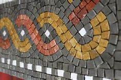 to eye: ancient mosaic faces (and one of my own) Mirror Mosaic, Mosaic Art, Mosaics, Seeing Eye, Fused Glass Art, Mosaic Patterns, Superhero Logos, Diy And Crafts, Mosaic Tables