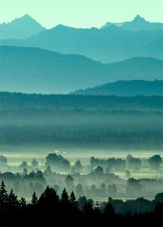 Morning mountains by Matthews Doug.