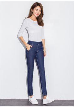 Winter fat mm200 pounds plus yards plus jeans female waist high waist black thin thick warm pants