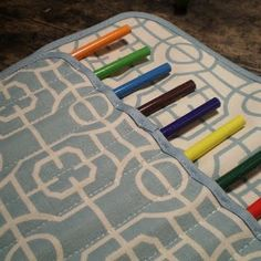 Placemat Pencil Roll