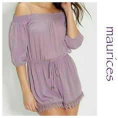 Maurices Lilac Romper