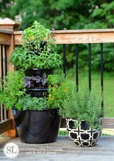 Patio Herb Garden – Tiered Planters