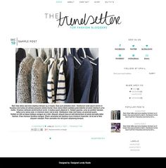 Blogger template inc blog elements and xml simplistic simple the trendsetter premade blogger template for fashion bloggers pronofoot35fo Gallery