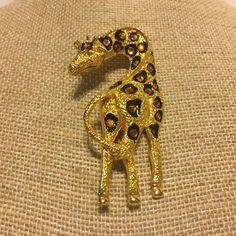 Giraffe Safari Animal Goldtone Enamel Brooch Pin  | Jewelry & Watches, Vintage & Antique Jewelry, Costume | eBay!
