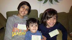 Ringraziamo Federica e i suoi nipotini Carlotta, Sofia e Matteo per l'appiccicato <3 <3 <3