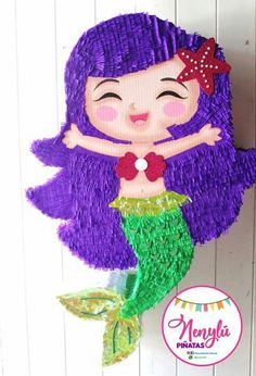 Sirena #nenylupiñatas #party #mermaid Little Mermaid Decorations, Mermaid Birthday Decorations, Mermaid Theme Birthday, Mermaid Pinata, Mermaid Diy, Summer Birthday, Birthday Party Games, Ocean Party, Under The Sea Party